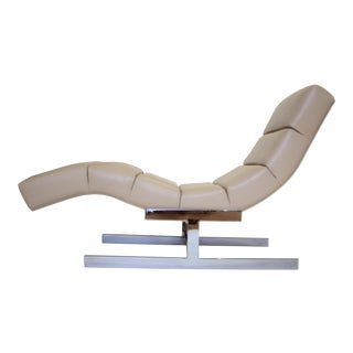 Milo Baughman Style Wave Chaise For Sale