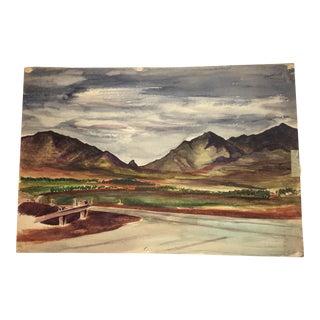 """Kolekole Pass, Oahu"" Watercolor Painting"