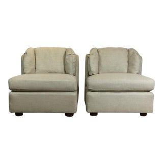 Late 20th Century Vintage Henredon Club Chairs- A Pair For Sale