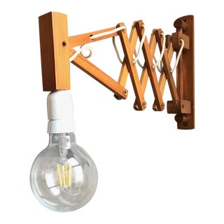 Danish Scissor Extension Wall Lamp For Sale