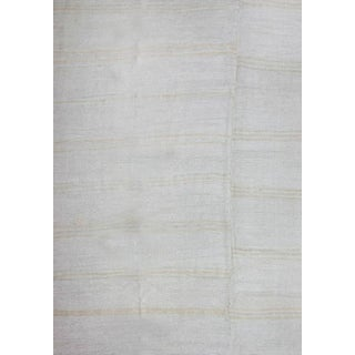 Square Vintage Turkish Flat-Weave Hemp Rug, 12'2 X 12'2 For Sale