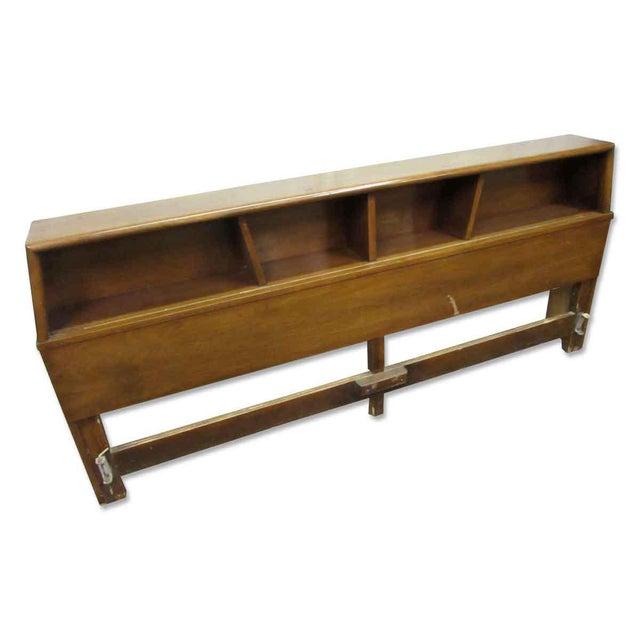 Brown Golden Oak Headboard For Sale - Image 8 of 9