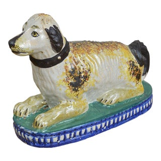 19th Century Staffordshire Seated Dog For Sale