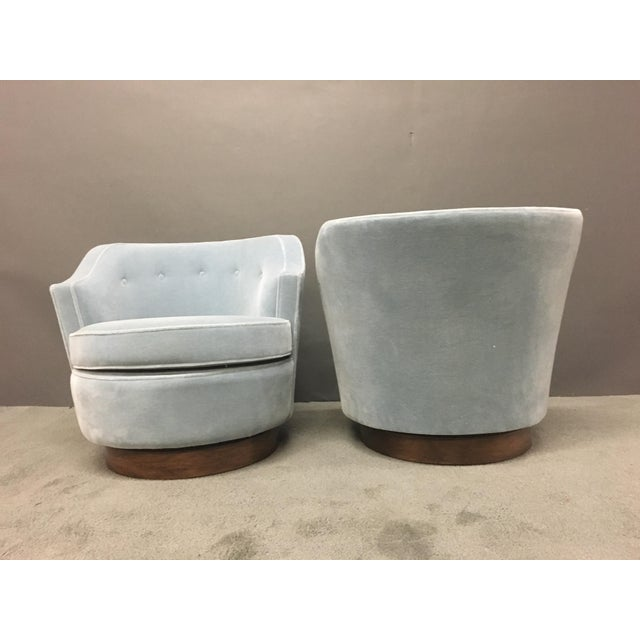 Mid-Century Modern Mohair Chairs - A Pair - Image 9 of 10