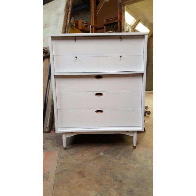 Hooker Mid-Century Lacquered White Chest - Image 7 of 8