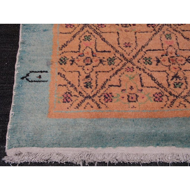 Primitive Pair of Oushak Rugs For Sale - Image 3 of 5