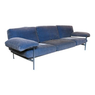 1990s Vintage Antonio Citterio for B&b Italia Velvet Diesis Sofa For Sale