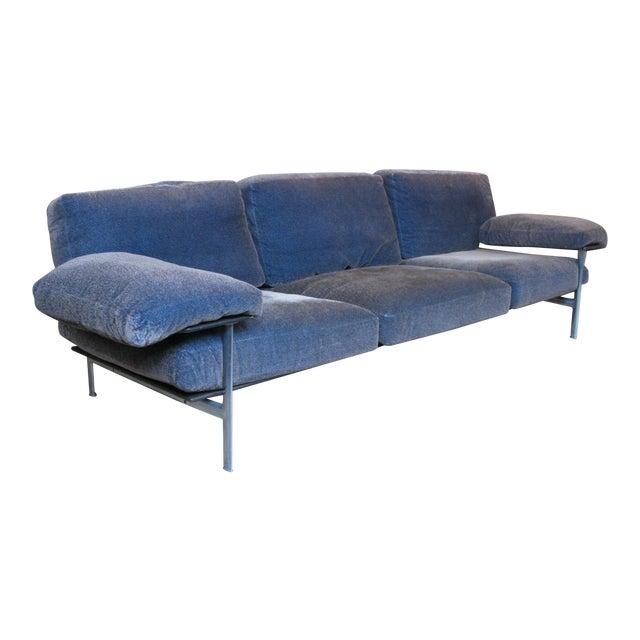 1990s Vintage Antonio Citterio for B&b Italia Velvet Diesis Sofa For Sale