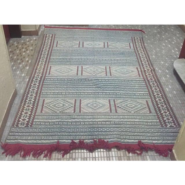 Moroccan Flatweave Kilim - 6′ × 8′2″ - Image 2 of 7