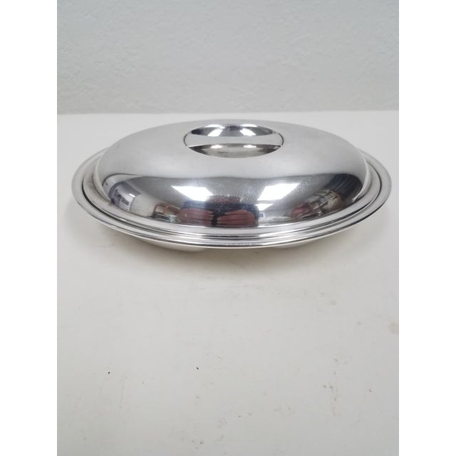 Silver Antique English Silverplate Divided Serving Dish With Cover - Elkington For Sale - Image 8 of 8