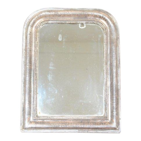 Antique Louis Philippe Mirror With Silver Frame For Sale