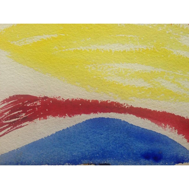 Abstract 1950s Jo Landor Mid Century Abstract Red Mountain For Sale - Image 3 of 6