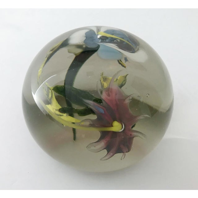 1960s Italian Murano Glass Paperweight For Sale - Image 5 of 9