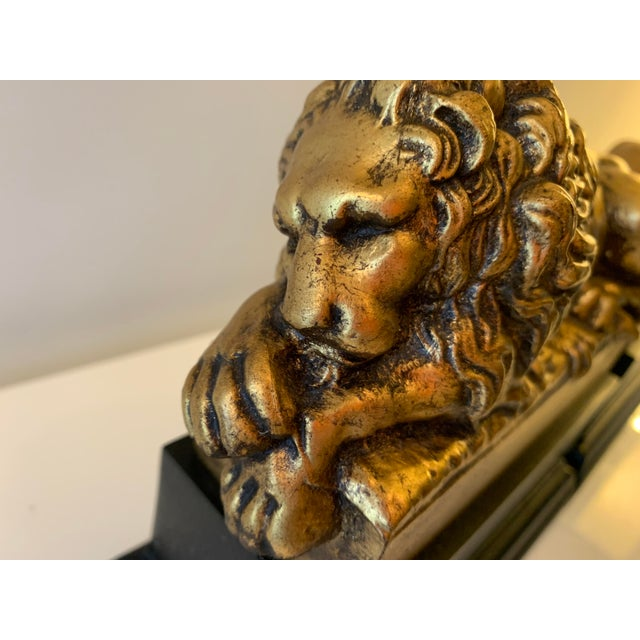 """Vintage Gilt """"Borghese"""" Lion Bookends - a Pair For Sale In Miami - Image 6 of 11"""