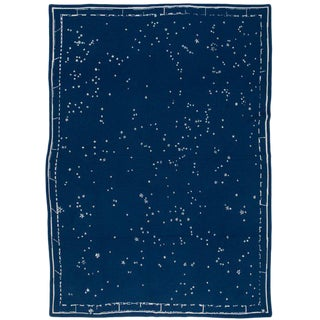 "Constellation Cashmere Blanket, Midnight, 51"" x 71"" For Sale"