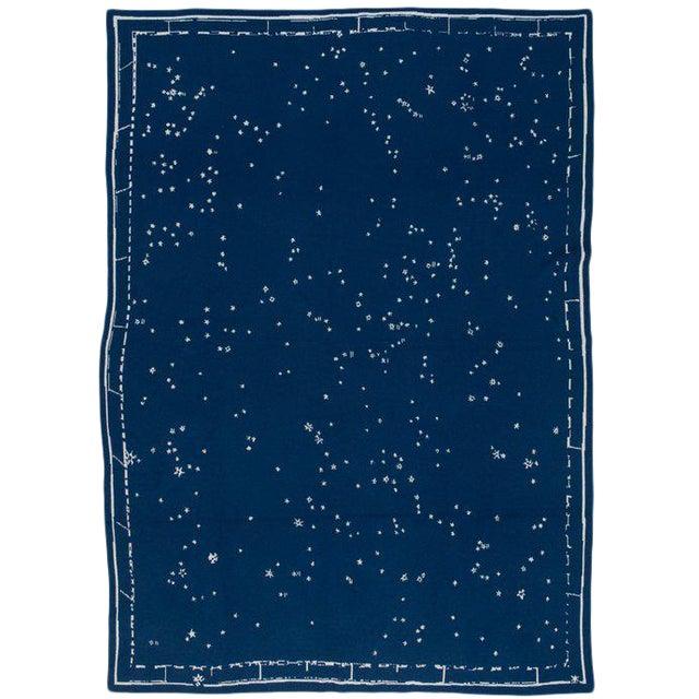 """Constellation Cashmere Blanket, Midnight, 51"""" x 71"""" For Sale"""