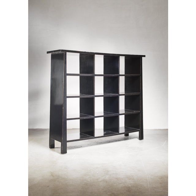 Wood Black Lacquered Wood Bookcase, Dutch, 1930s For Sale - Image 7 of 7