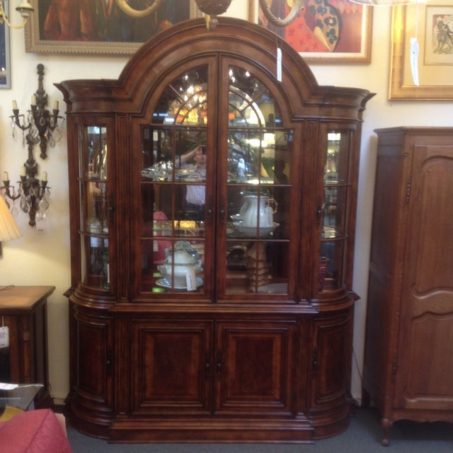 Arched Sideboard With Lighted Hutch - Image 2 of 9