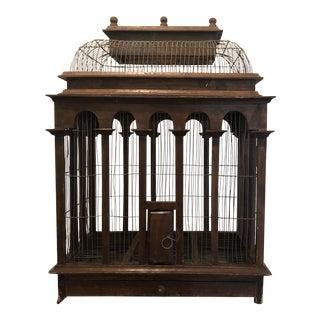 Antique Victorian Architectural Birdcage For Sale