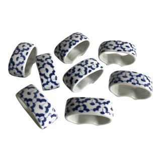 Ceramic Napkin Rings, Set of 8