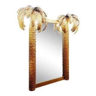 "1960s ""Maison Jansen"" Style Palm Mirror For Sale"