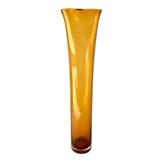 Modern Elongated Elegant Murano Glass Vase For Sale