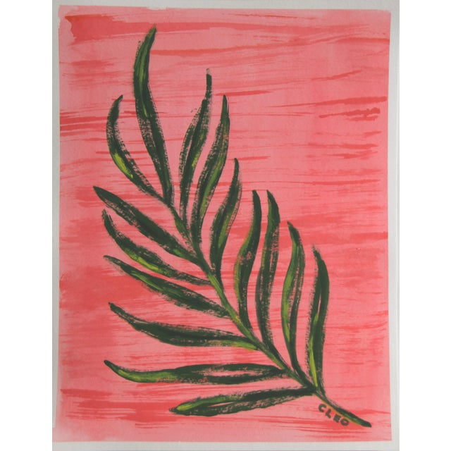 Contemporary Botanic Contemporary Tropical Leaves Painting by Cleo Plowden For Sale - Image 3 of 9