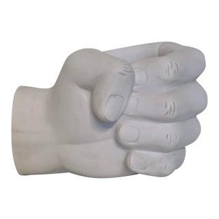 Modernist Hand Model White Ceramic Planter