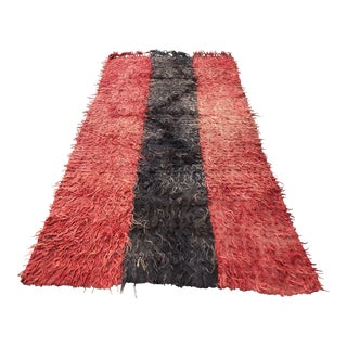 Turkish Tribal Angora Wool Carpet - 4′7″ × 8′7″