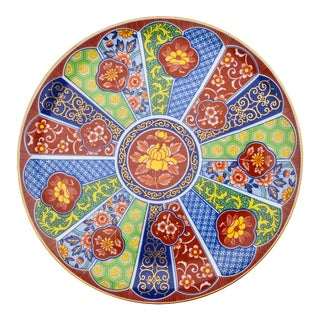 Hand-Painted Colorful Imari Plate For Sale