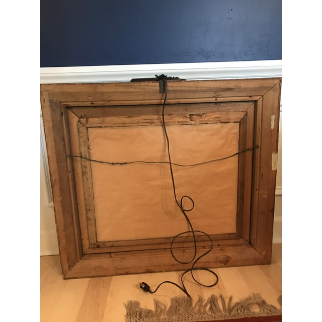 Antique Chinoiserie Panel Print in Wooden Frame For Sale - Image 12 of 13