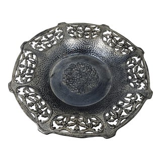 1940s Vintage Pewter Tray/Ashtray For Sale