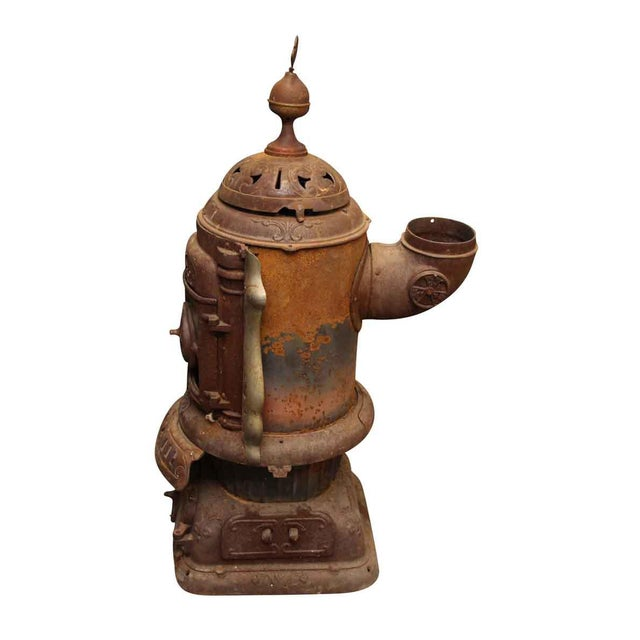 Metal Antique Oak Bengal Stove For Sale - Image 7 of 13