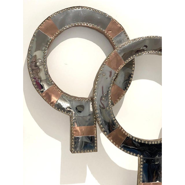This stylish, large scale Mid-Century Modern wall sculpture was created in the style of Curtis Jere and is titled...