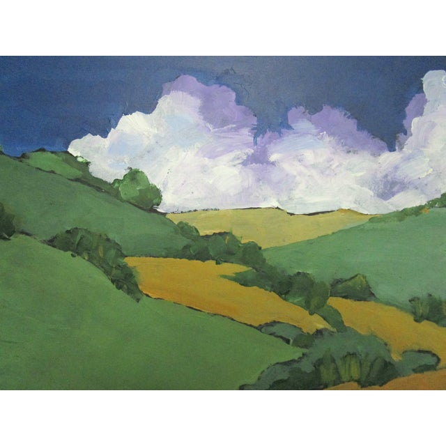 Original oil painting of California Malibu Hills by Lynne French. The signed painting measures 8 x 10 inches on a...