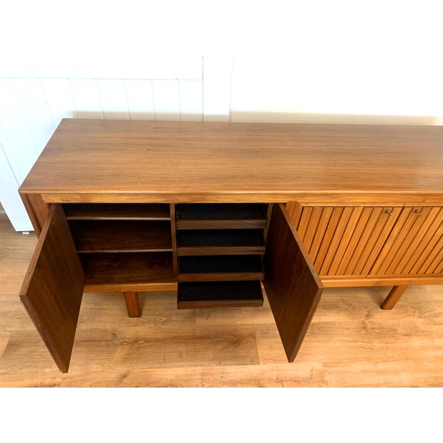 Wood 1960s Teak Norwegian Credenza With Key For Sale - Image 7 of 13