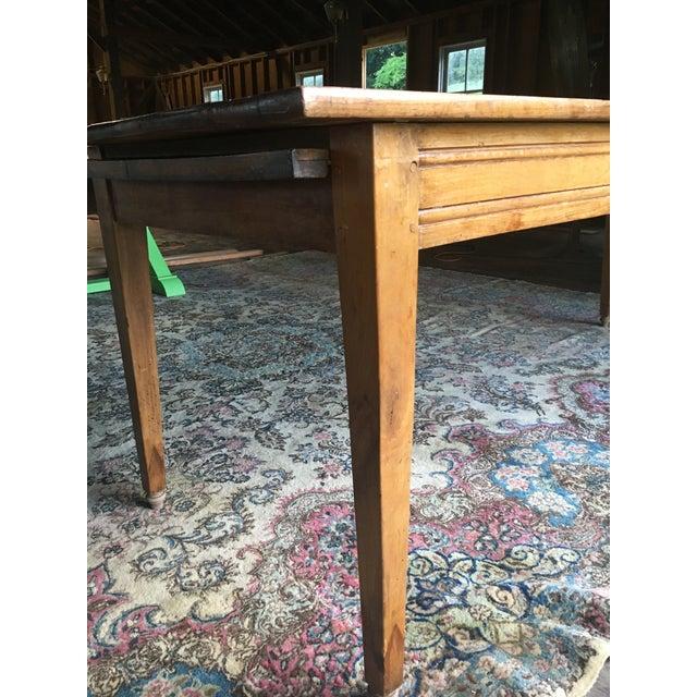 Antique Pine Farm Table For Sale In Philadelphia - Image 6 of 10
