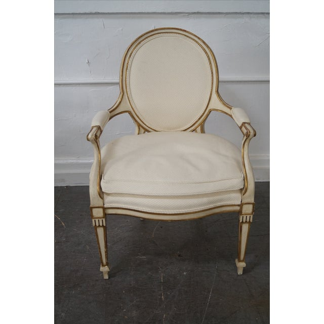 Widdicomb Paint Frame Regency Style Arm Chairs - A Pair - Image 5 of 10