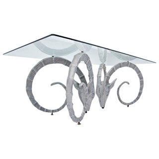 Silver Ibex Coffee Table For Sale