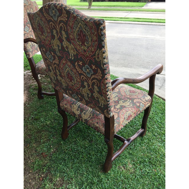 """19th Century French Solid Oak """"Os De Mouton"""" Chairs - A Pair For Sale - Image 4 of 8"""