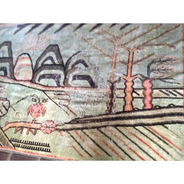 Mid-Century Turkish Landscape Motiff Rug - 5′2″ × 8′8″ - Image 8 of 10