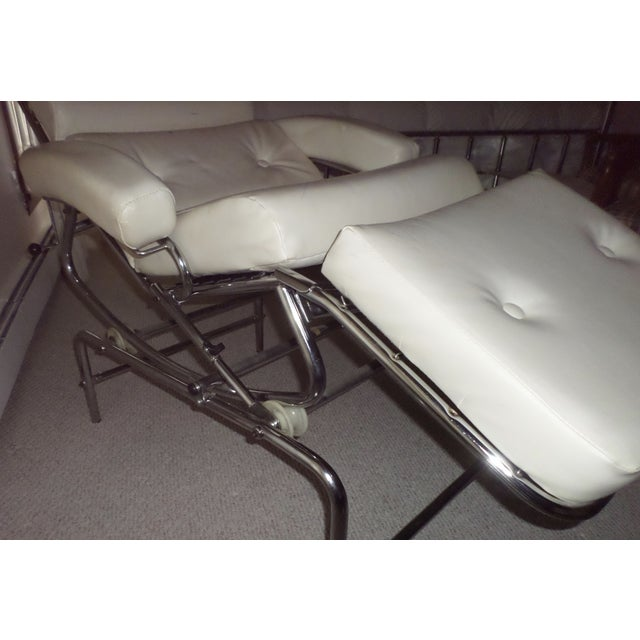 Vintage 1960s Lama Chrome Lounge Massage Chair For Sale - Image 5 of 7