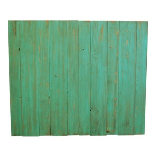 Mint Weathered Look Twin Headboard Hanger Style