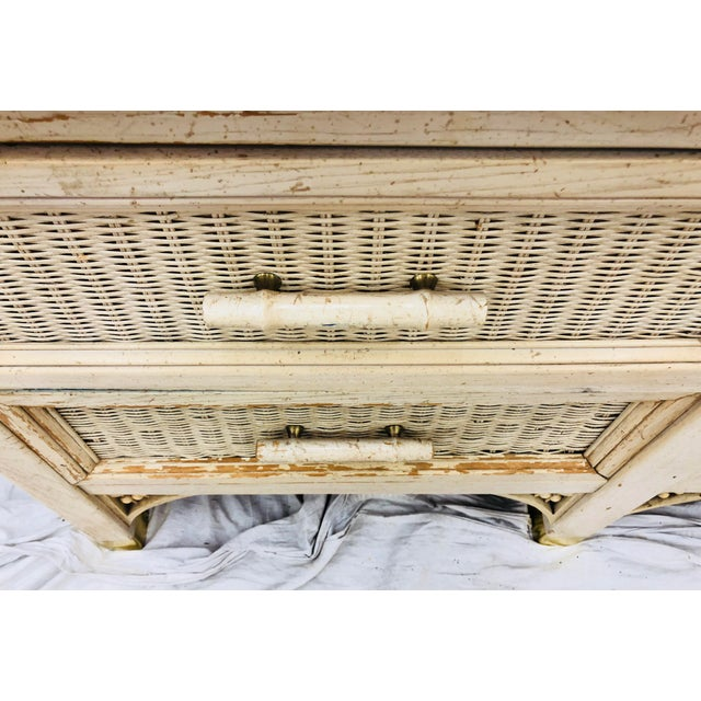 Vintage Faux Bamboo Chippendale Style Hutch For Sale - Image 12 of 13