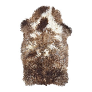 Contemporary Natural Wool Sheepskin Pelt - 2'0'' X 3'5'' For Sale