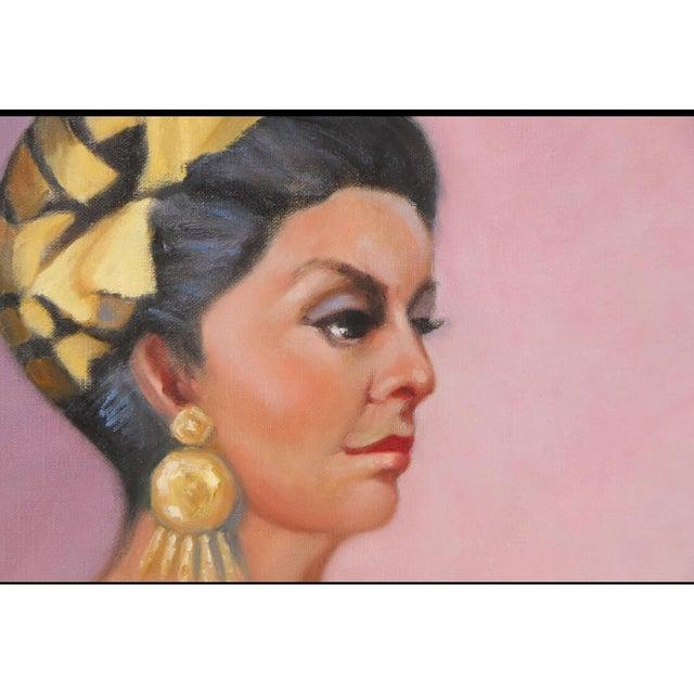 Original Portrait of a Woman Vintage Dress - Image 3 of 9