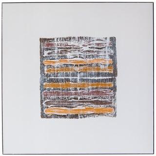"Len Klikunas ""Tan Strata Pattern: Taos"" Original Painting For Sale"