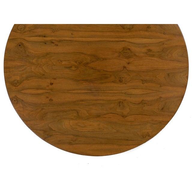 19th Century Austrian Biedermeier Walnut Antique Round Center Table For Sale - Image 11 of 13