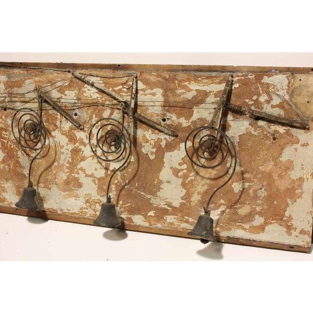 Antique Folk Art Byron Mechanical Bells - Image 3 of 3