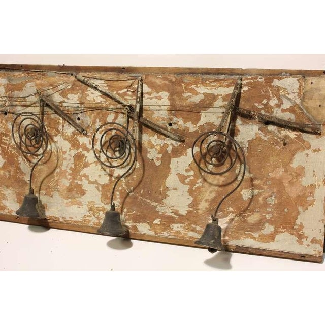 Rustic Early 20th C. Antique Folk Art Byron Mechanical Bells For Sale - Image 3 of 3